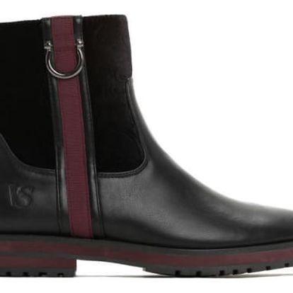 Dámské černé kotníkové boty Morena 1270