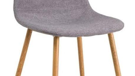 Jídelní čalouněná židle FOX šedá