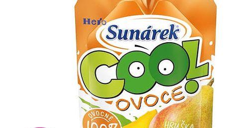 12x SUNÁREK Cool ovoce Hruška-Banán-Mango (120 g) – ovocný příkrm