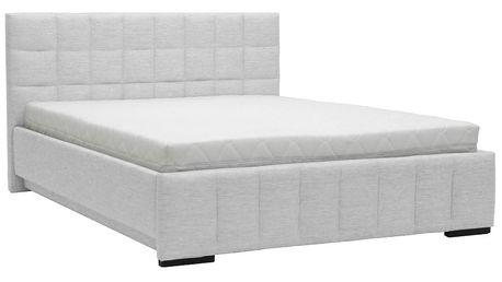Světle šedá dvoulůžková postel Mazzini Beds Dream, 180x200cm