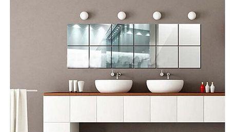Zrcadlové dlaždice na stěnu - 3 velikosti