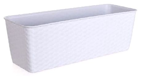 Truhlík samozavlaž.40 cm bílý