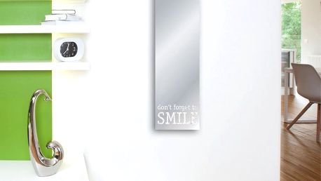 Zrcadlo Eurographics Don't Forget To Smile, 30 x 120 cm