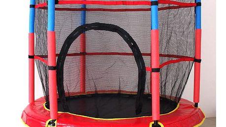 Dětská zahradní trampolína s ochrannou sítí s nosností až 45 kg