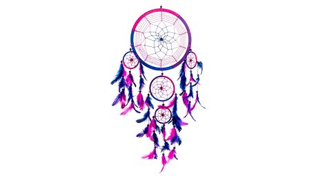 Lapač snů v růžové barvě
