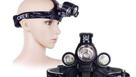LED čelovka se 3-mi diodami
