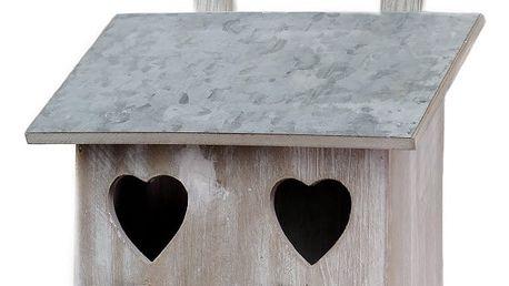 Dřevěná ptačí budka s motivem srdíčka Ego Dekor, 27 x 29 cm