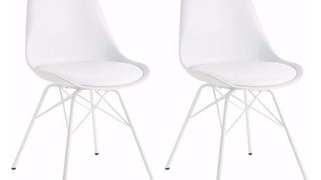 Sada 2 bílých jídelních židlí Støraa Lucinda