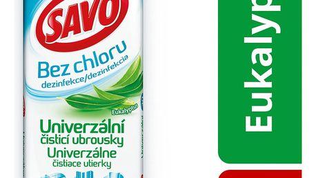 Savo univerzální čisticí ubrousky bez chloru, eukalyptus 30 ks