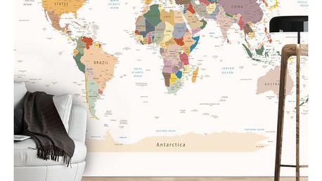 Velkoformátová tapeta Artgeist World Map, 300x210cm