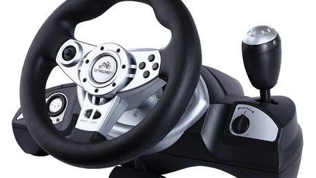 Volant Tracer Zonda + pedály pro PC, PS, PS2, PS3 černý (TRAJOY39707)