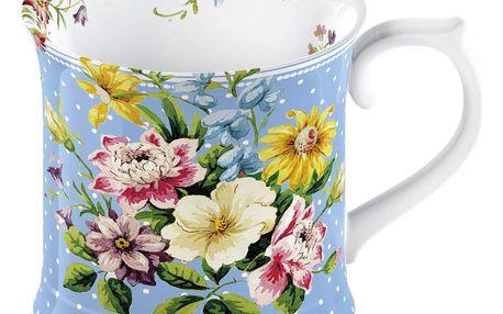 Modrý porcelánový hrnek Creative Tops English Garden, 350 ml