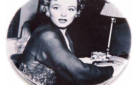 Kapesní kulaté zrcátko Marilyn Monroe Surprise kovové