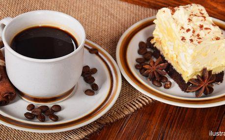 Káva a dort podle výběru v žižkovské kavárně