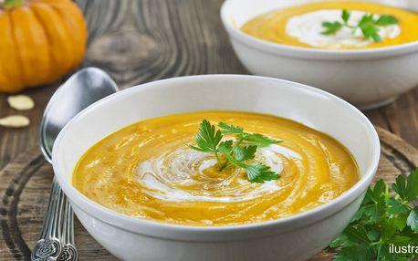 Zdravý oběd: 2 husté krémové polévky s pečivem