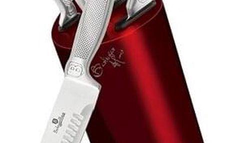 Berlinger Haus 6dílná sada nožů ve stojanu Burgundy Metallic Line