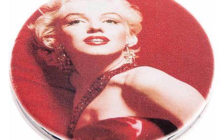 Kapesní kulaté zrcátko Marilyn Monroe Red kovové