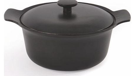 Černý litinový hrnec s pokličkou BergHOFF RON, objem 4,2 litru