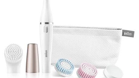 Obličejový epilátor Braun Face 851 bílý + dárek Dárková sada Braun Gillette Venus Satin Care + gel (Dárková edice)
