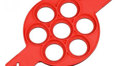 Silikonová forma na lívance - červená
