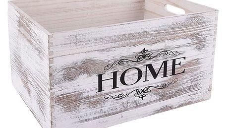 Orion Dřevěná bedýnka Home, 31 x 21 cm