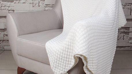 Světle béžová bavlněná deka Homemania Cola,170x130cm