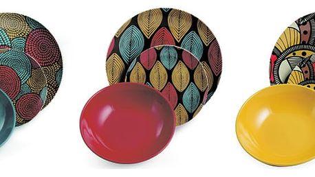 18dílný set barevného nádobí z kameniny Villa d'Este Africa