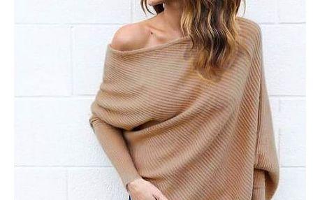 Volný svetr odhalující ramena - 5 barev