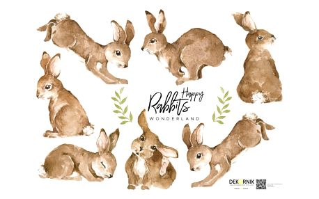 Nástěnná samolepka Dekornik Happy Rabbits Wonderland