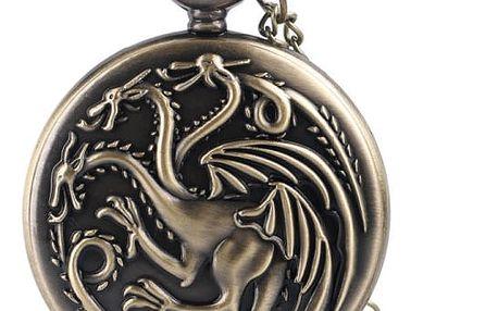 Kapesní hodinky - drak