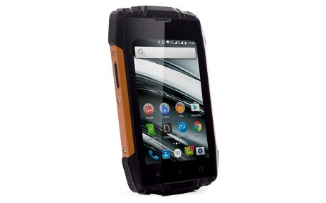 Mobilní telefon myPhone HAMMER IRON 2 Dual SIM černý/oranžový + dárek (TELMYAHIRON2OR)