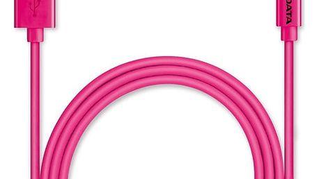 Kabel ADATA Sync & Charge Lightning, 1m, MFi růžový (AMFIPL-100CM-CPK)