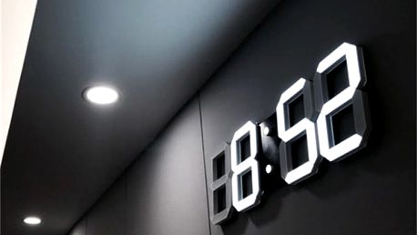 LED digitální hodiny na zeď - 8 variant