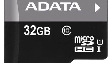 Paměťová karta ADATA 32GB Class 10 UHS-U1 (50R/10W) + čtečka MicroReader Ver.3 černá (AUSDH32GUICL10-RM3BKBL)