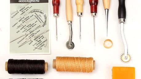 Sada nástrojů pro práci s kůží - 13 kusů - dodání do 2 dnů