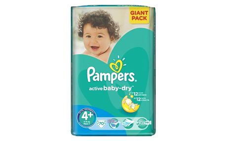 Pampers Active Baby-dry vel. 4+ Maxi+, 70ks