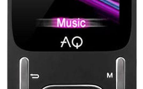 MP3 přehrávač AQ MP02BK černý (6mp02bk)