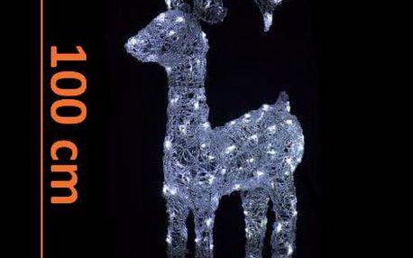 Nexos 208 LED dekorace - vánoční sob - 100cm bílé světlo