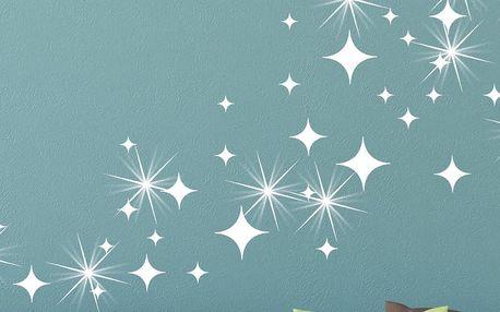 Sada 50 samolepek se Swarovski elementy Ambiance White Star