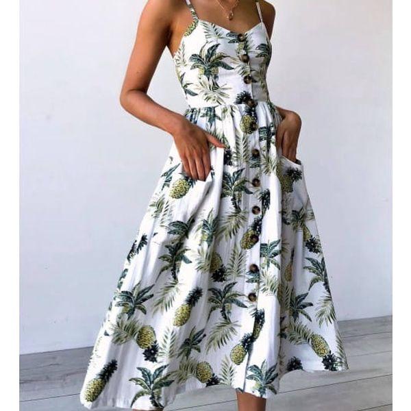 Letní šaty s květinovým potiskem - 5 barev