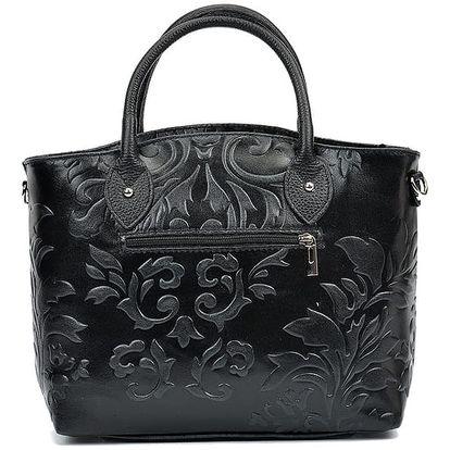 Černá kožená kabelka Renata Corsi Valeriana