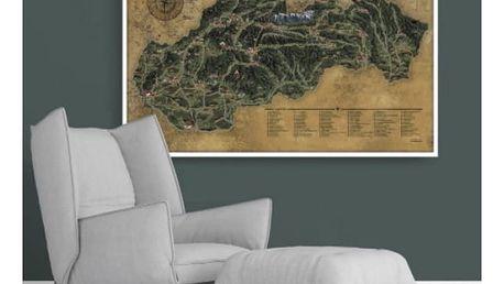 Stírací mapa Slovenské republiky