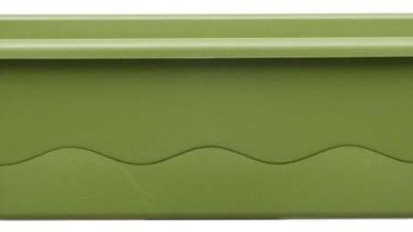 Plastia Samozavlažovací truhlík MARETA 17,5 x 60 x 19,5 cm zelená sv. + zelená tm.