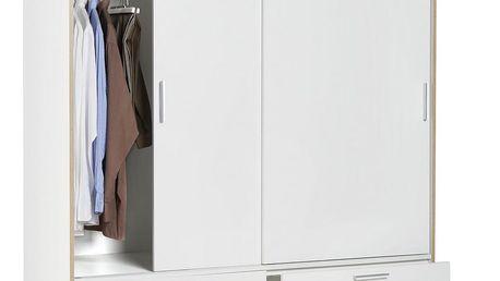 Skříň s posuvnými dveřmi mika, 140/205/60 cm