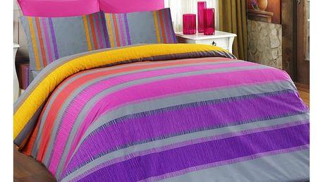 Bedtex povlečení ELLE fialové bavlna, 140 x 200 cm, 70 x 90 cm