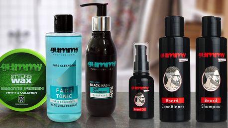 Pánská kosmetika na vousy, vlasy i pleť