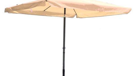 Tradgard 8020 Čtvercový slunečník béžový 270 x 270 cm