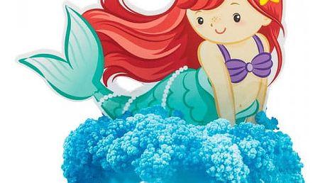 Magická mořská panna s rostoucími krystaly