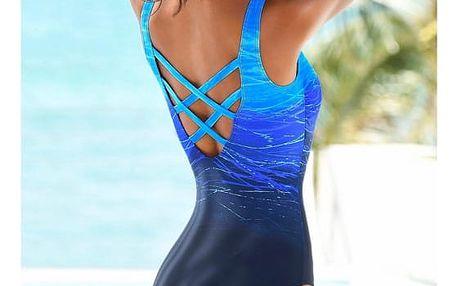 Jednodílné plavky s ombré efektem - 3 barvy