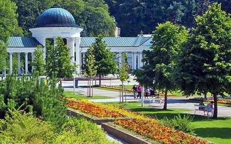 Honosné Mariánské Lázně v hotelu kousek od lázeňského parku + balíček wellness procedur i polopenze